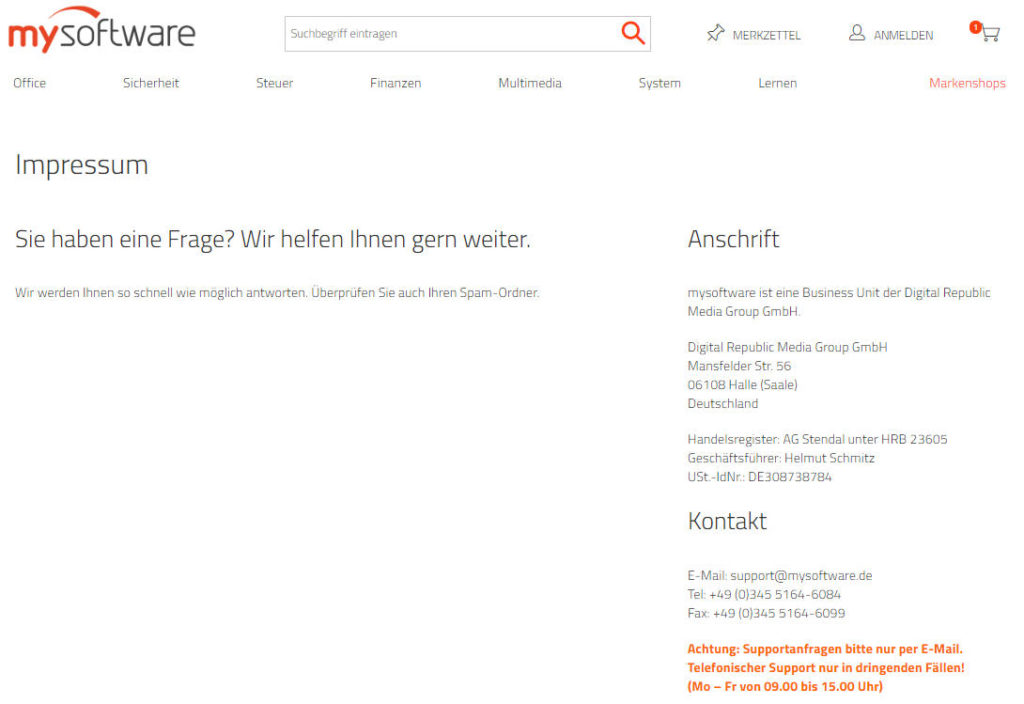 mysoftware Shopanbieter
